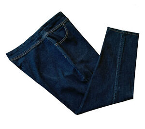Terra & Sky, Dark Wash, Tapered Leg Pull-on Jeans with Stretch, size 1X