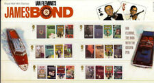 GB 2008 James Bond, Ian Fleming Books, set of 6, Presentation Pack, MNH / UNM