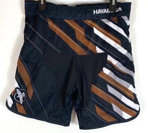 Hayabusa Mens Metaru Charged Fight Shorts MMA Jiu Jitsu Black Brown size 32