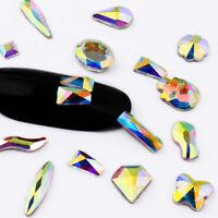 100pcs Nail Art Rhinestones Glitter Diamond Crystal Gems 3D Tips DIY Decoration