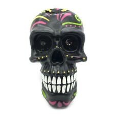 """Two's Company Black Sugar Skull Candle Day of the Dead Halloween Party 6"""""""