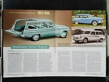 1954-1966 Studebaker Station Wagons - 4 Page Article - Free Shipping