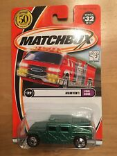 2002 Matchbox 50th Anniversary Humvee Cool Rides #32 Green Unopened MOC
