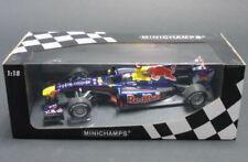 Coches de carreras de automodelismo y aeromodelismo azules MINICHAMPS