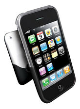 Ifrogz piel caso Luxe Claro Negro Para Iphone 3g/3gs Reino Unido
