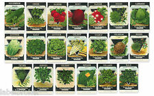 20 VINTAGE SEED PACKET LOT NOS C1920 HERBS GARDEN LITHOGRAPH GENERAL STORE PACK