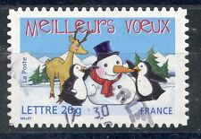 TIMBRE FRANCE OBLITERE N° 3854  ADHESIF MEILLEURS VOEUX Photo non contractuelle