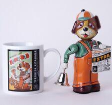 Japanese Tin Toys Box Art Mug&Tintoy Set Collection Dog&Mug Set Friction Vintage