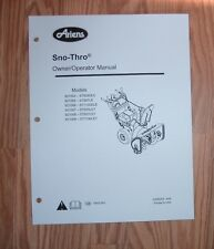 ARIENS 921006 - ST1130DLE, 921007 - ST924LET SNO -THRO OWNERS MANUAL