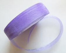 10 Meters Organza Ribbon - approx. 18mm - Purple