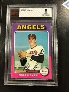 1975 Topps Nolan Ryan # 500 BVG 8 Nr Mt - Mint