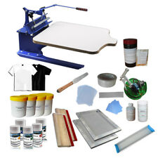 1 Color Screen Printing Press & Material Kit Tilt Press Printer with Hobby Tools