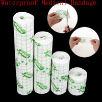 1Roll 4 Size Waterproof Adhesive Wound Dressing Medical Fixation Tape Bandage.