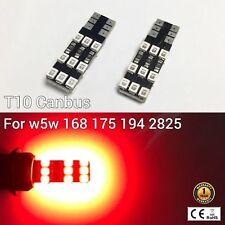 T10 W5W 194 168 2825 12961 3rd Brake Light Red 18 Canbus LED M1 For Chevrolet