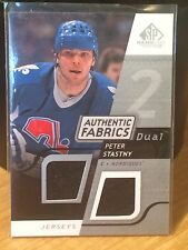 2008-09 SP Game Used Authentic Fabrics Dual #AFSY Peter Stastny Jersey