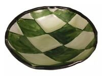 "Translucent Fused Art Glass Candy Nut Bowl 6"" Diameter x 2"" Deep Unsigned"