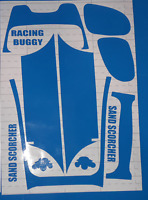 SAND SCORCHER C BLUE BODY PANELS TAMIYA HPI LOSI 1/10th VINTAGE