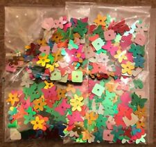 BNIP Sequins - Multi-Coloured Butterflies. Flowers and Squares