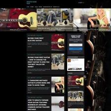 Guitar Shop-online business Website FOR SALE + domaine + Hébergement + AMAZON
