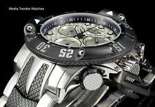 Invicta 50mm Subaqua Poseidon Quartz Chronograph Silver & Black Bracelet Watch