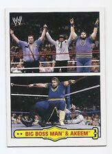 2012 TOPPS WWE HERITAGE FABLED TAG TEAMS #3 BIG BOSS MAN & AKEEM
