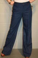 S-M 28 x 35 NOS Vtg 70s Blue Denim Hi Waist Wrangler Bell Bottom Hippie Jeans