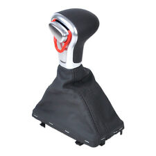 For Audi A3 A4 A5 A6 Q7 Q5 Chromed Gear Shift Knob + Leather Gaiter Boot Cover