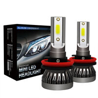 2x H8/H9/H11 1200W 195000LM LED Headlight Conversion Bulb 6000K Hi/Lo Beam Lamp