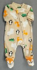 Baby Boy Clothes Child Mine Carter's Preemie Fleece Arctic Animals Outfit