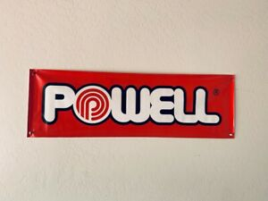 Two Different Vintage Skateboard Banners Powell - lot of 2