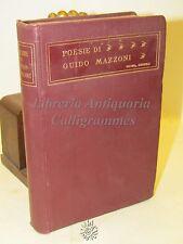 LETTERATURA POESIE di Guido Mazzoni - Zanichelli 1913 POEMA NARRATIVA