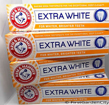 4 Tubes of Arm & Hammer Extra White Toothpaste 125g Tubes - Free Post Packing