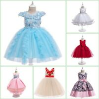 Flower Tutu Girl Princess Kid Baby Dresses Wedding Formal Bridesmaid Party Dress