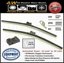"2PC 26"" & 26"" Premium ALL Season Frameless Wiper Blades OEM Quality Replacement"