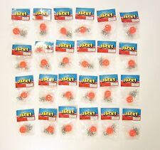 24 SETS OF METAL STEEL JACKS AND SUPER RED RUBBER BALL GAME CLASSIC TOY KIDS