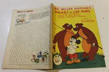 LES BELLES HISTOIRES DE DISNEY  9 octobre 1954 MICKEY ET LES OURS