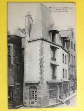 """cpa Normandie GRANVILLE (Manche) La HAUTE VILLE Anciennes Maisons """" HUBERT """""""
