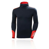Helly Hansen Mens Lifa Merino Midweight Hoodie Navy Blue Red Sports Outdoors
