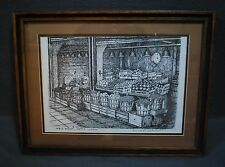 Pike Place Market, Seattle WA,  SIGNED & #'d  Art Print By Don R Morrow, Framed