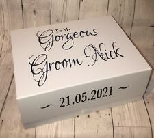 Personalised To My Groom Wedding Day Gift Box