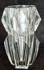 VERY UNUSUAL!! MARKED BACCARAT MODERNISTIC ART DECO? COOL LOOKING VASE, MUST C!!