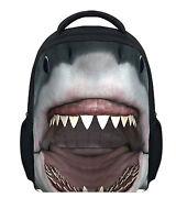"12"" Cool Animal Shark Preschool Backpack Toddler Boy School Rucksack Bag Bookbag"