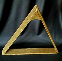 Antique Vintage Wooden Pool Table Triangle Billiard Ball Rack