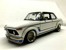 1/18 AUTO ART - BMW 2002 TURBO WHITE- MODIFIED - REAL ALUMINIUM BBS WHEELS