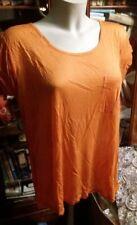 T-Shirt. 100%Tencel. Orange. Gr. XXl