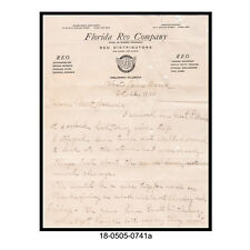 1930 Florida REO Company Letterhead (Personal Letter)
