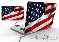 USA America Flag Design Wrap Skin Sticker for Macbook 13 Laptop Cover Decal