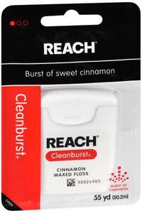 Reach Floss CLEANBURST Cinnamon Waxed 55 yd ( 6 pack )