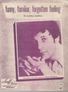 "TOM JONES  Rare 1966 Aust Only OOP Original Pop Sheet Music ""Funny Familiar"""