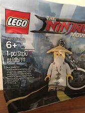 LEGO 5004915 Ninjago Movie Master Wu Key Chain Polybag 6195008 Sensei Minifigure